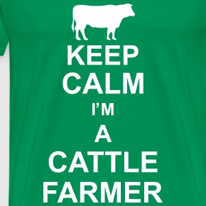 keep_calm_im_a_cattle_farmer_g1 T-shirts - Herre premium T-shirt