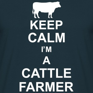 keep_calm_im_a_cattle_farmer_g1 T-Shirts - Men's T-Shirt