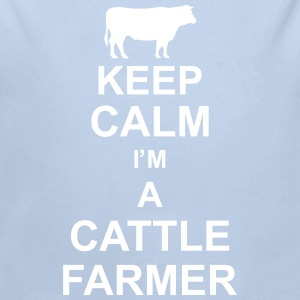 keep_calm_im_a_cattle_farmer_g1 Sudaderas - Body orgánico de manga larga para bebé