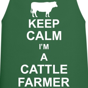 keep_calm_im_a_cattle_farmer_g1 Delantales - Delantal de cocina