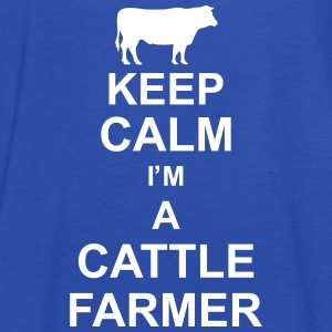 keep_calm_im_a_cattle_farmer_g1 Tops - Camiseta de tirantes mujer, de Bella