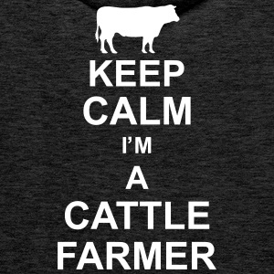 keep_calm_im_a_cattle_farmer_g1 Sweat-shirts - Sweat-shirt à capuche Premium pour hommes