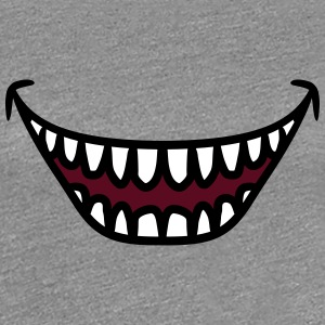 Ugly grinning laughing Monster mouth T-Shirts - Women's Premium T-Shirt