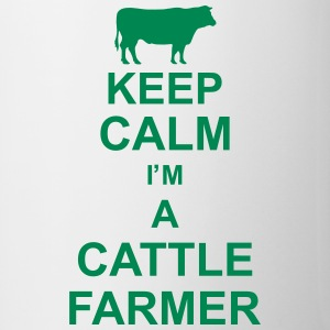 keep_calm_im_a_cattle_farmer_g1 Flaschen & Tassen - Tasse