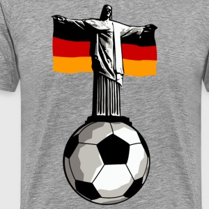 Germany Jesus in Rio with football T-Shirts - Men's Premium T-Shirt