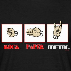 Rock paper METAL - Männer T-Shirt