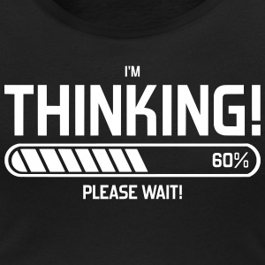 i'm Thinking! Please Wait! T-shirts - T-shirt med u-ringning dam