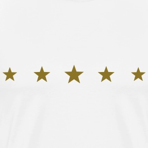 5 Stars, Gold, five, Winner, Champion, Birthday, T - T-shirt Premium Homme