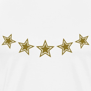 5 Stars, Gold, Best, Chief, Boss, King, Winner Tee - T-shirt Premium Homme