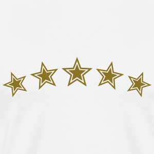 5 Stars, Gold, Best, Sports King, Winner, Champion - Men's Premium T-Shirt