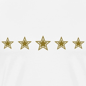 5 Stars, Gold, Win, Winner, Champion, Record, Team Camisetas - Camiseta premium hombre