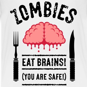 Zombies Eat Brains! You Are Safe! (3C) T-Shirts - Teenager Premium T-Shirt