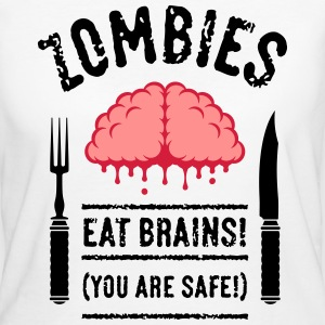 Zombies Eat Brains! You Are Safe! (3C) T-Shirts - Women's Organic T-shirt