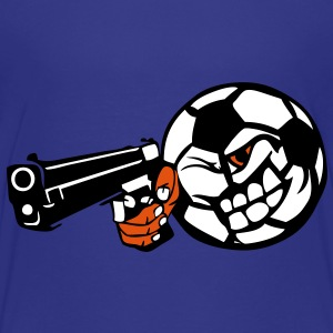 pistolet braque main foot soccer ballon