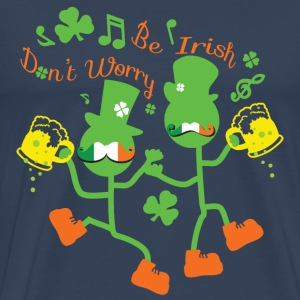 Dancing mustahce Irish guys Men's Premium T-Shir - Men's Premium T-Shirt