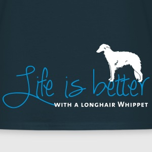 Life is better with a  Longhair Whippet T-Shirts - Männer T-Shirt