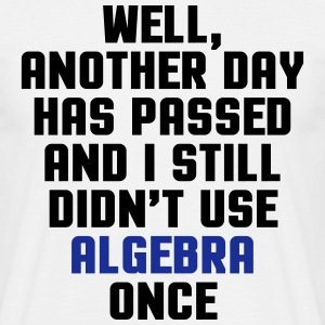 Didn't Use Algebra Once  T-Shirts - Männer T-Shirt