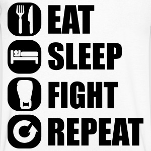 eat_sleep_fight_repeat_13_1f T-shirts - Mannen T-shirt met V-hals