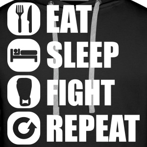 eat_sleep_fight_repeat_13_1f Pullover & Hoodies - Männer Premium Hoodie