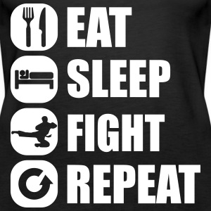 eat_sleep_fight_repeat_10_1f Tops - Women's Premium Tank Top