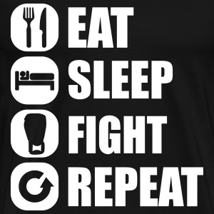 eat_sleep_fight_repeat_13_1f T-shirts - Premium-T-shirt herr
