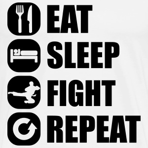 eat_sleep_fight_repeat_10_1f T-shirts - Premium-T-shirt herr