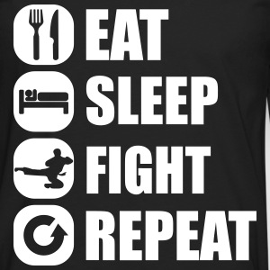 eat_sleep_fight_repeat_10_1f Manga larga - Camiseta de manga larga premium hombre