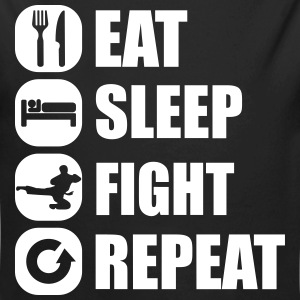 eat_sleep_fight_repeat_10_1f Body neonato - Body ecologico per neonato a manica lunga
