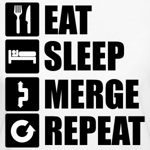 Eat sleep merge repeat Tee shirts - T-shirt Bio Femme