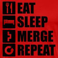 Eat sleep merge repeat 1f T-Shirts