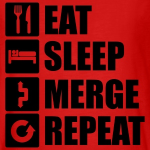Eat sleep merge repeat 1f Manches longues - T-shirt manches longues Premium Ado