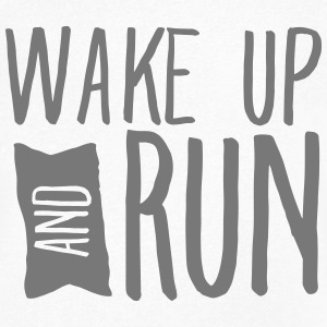 Wake Up And Run T-shirts - Mannen T-shirt met V-hals