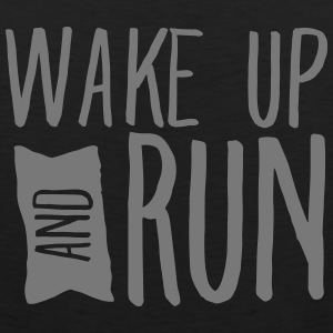 Wake Up And Run Tank Tops - Men's Premium Tank Top