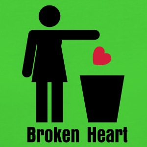 Hellgrün Trash Heart Woman / Recycle Heart T-Shirts - Frauen Bio-T-Shirt