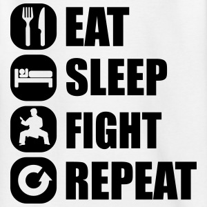 eat_sleep_fight_repeat_6_1f Camisetas - Camiseta adolescente