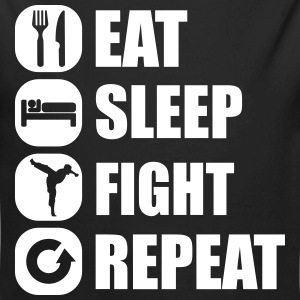 eat_sleep_fight_repeat_4_1f Body neonato - Body ecologico per neonato a manica lunga