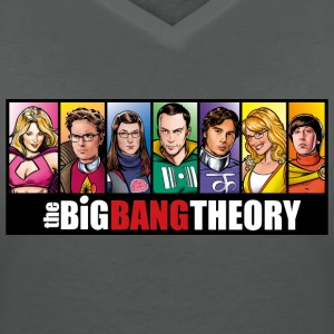 The Big Bang Theory Comic Dam T-Shirt - T-shirt med v-ringning dam