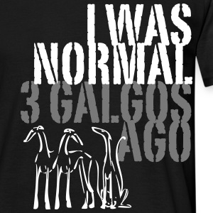 normal 3 galgos ago T-Shirts - Men's T-Shirt