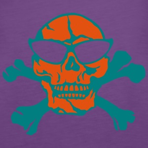 Death head skull pirate bone Tops - Women's Premium Tank Top