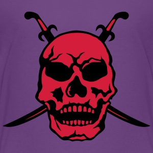 Death head skull pirate sword Shirts - Teenage Premium T-Shirt