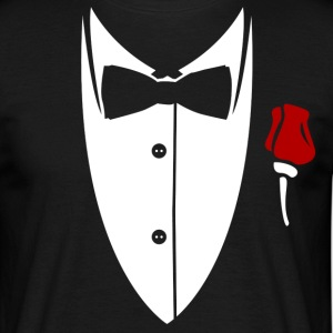 Collar with bow tie and rose from suit T-Shirts - Men's T-Shirt