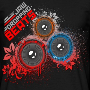 Black Jaw Dropping Beats DJ Men's T-Shirts - Men's T-Shirt