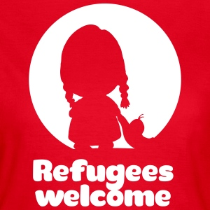 Refugees welcome red Shirt - Frauen T-Shirt