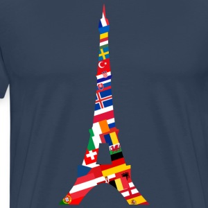 Europe Eiffel Tower T-Shirts - Men's Premium T-Shirt