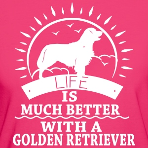 Golden Retriver T-Shirts - Frauen Bio-T-Shirt