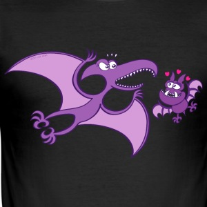 Bat Madly in Love with a Pterodactylus T-Shirts - Men's Slim Fit T-Shirt