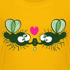 Flies Kissing and Falling in Love Shirts