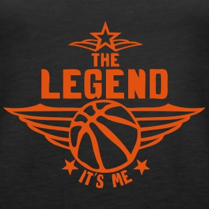 basketball legend its me quote logo Tops - Women's Premium Tank Top