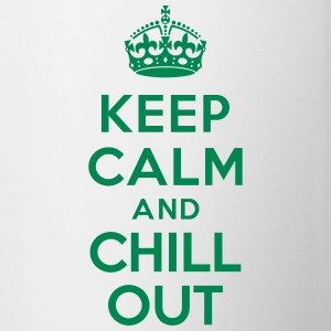 Keep calm and Chill out Bouteilles et Tasses - Tasse bicolore