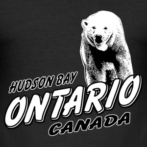 Ontario - Polar Bear  T-Shirts - Männer Slim Fit T-Shirt